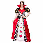 Adults Ladies Queen Of Hearts Costume for Royal Regal Ruler Leader Fancy Dress