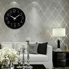 12 Round Large Wall Clock Silent Classic Non-Ticking Quartz Easy to Read Room