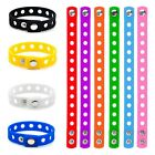 10 PCS Rubber Bracelets for Kids Adjustable Wristbands Shoe Charms Party Favors