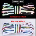 Reflective Shoelaces Laser sequin Shoelace Weave Braided bracelet 1Pair