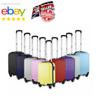 'Small 4 Wheel Suitcase Travel Cabin Bag Carry On Hard Case Hand Luggage