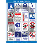 Glossy A4 Commercial Hot Tub Safety Poster FREE P&P