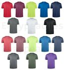 Reebok Mens 100% Polyester dri-fit T-shirt Work out Gym S-3XL, 4XL 5XL Sport Tee image
