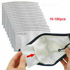 10-100Pcs PM2.5 Activated Carbon Filter Replacement 5 Layers For Adult Lot