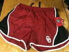 NWT new Colosseum OU Oklahoma SOONERS Lined RUNNING ATHLETIC SHORTS Womens L XL