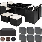Rattan Aluminium Garden Furniture Cube Set Dining Wicker 8 Seater Table New