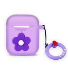 AirPods Silicone Case + Keychain Protective Cover Skin for Airpods 1 & 2