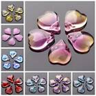 10pcs 15x12mm Petal Crystal Glass Loose Pendants Beads For Jewelry Findings DIY