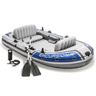 3/4/5 Person Intex Excursion Inflatable Boat Set with Aluminium Oars and Pump