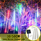 50CM Solar LED Meteor Shower Falling Rain Drop Icicle Xmas Tree String Lights