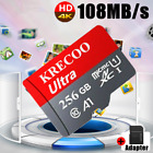 KRECOO Micro Memory Card 256/128/64GB TF HC Flash Card Adapter Phone Car Camera