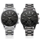 Fashion Analog Mens Watch Hook Buckle Stainless Steel Quartz Wrist Casual Watch image