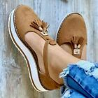 Women Strap mid heel Ladies fashion Sandals Ankle Buckle Casual Beach Shoes new