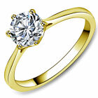 1.3Ct Stainless Steel Round Cubic Zirconia Women Wedding Solitaire Ring $10.99 USD on eBay