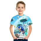 Boys Cartoon Mario Super Sonic Print Clothes 3D T-shirts Costume Children Kids
