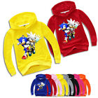 Boys Cartoon Printed Supersonic Mario Hoodies Fashion Casual Pullover Clothing