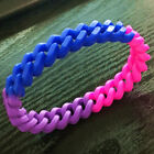 1 Pair Asexual Bisexual LGBT Gay Pride Silicone Wrist Band Bracelet Bangle Gift