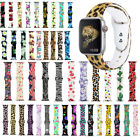Sport Printed Silicone Strap For iWatch Wrist Band 38mm 42mm 40mm 44mm Wristband image