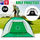 2M Foldable Golf Driving Practice Hitting Swing Net Cage Home Garden Trainer AU