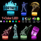 Game Fortnite 3D LED Lamp USB Night Light Desk Touch Lights Xmas Bedroom Decor