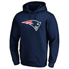 New England Patriots NFL Men's Iconic Primary Colour Logo Pullover Hoodie - New