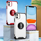 For iPhone 11 Pro Max Clear Case Hybrid Shockproof Protective Ring Holder Cover