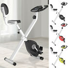 Indoor Foldable Upright Bike with LCD Screen for Cardio Aerobic Exercise