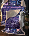 Horse - To My Granddaughter - I Am So Proud Of You Fleece Blanket