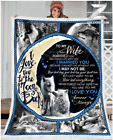 Wolf - To my wife - Your last everything Fleece Blanket