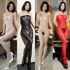 Women 8D Oil Shiny Glossy Pantyhose Body Stockings Tights Crotchless BodysuB TE