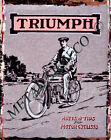 TRIUMPH MOTORCYCLE metal wall sign bar shed garage cafe shop man cave office pub £6.95 GBP on eBay