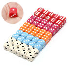 10Pcs 14Mm Six Sided Spot Fun Board Game Dice Games Party Gambling Game Dice DOL