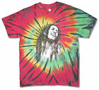 Bob Marley Splatter Face All Over Multicolored Tie Dye T Shirt New Official