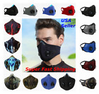 Kyпить Face Mask Reusable Cycling Cover Sport Dual Air Valves + Activated Carbon Filter на еВаy.соm
