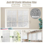 3D Window Glass Film Sticker Stained Anti UV Self-adhesive Frosted Floral Flower