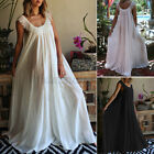 Womens Baggy Sleeveless Long Maxi Dress Lace Patchwork Holiday Party Dresses New