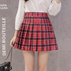 Women's High Waist Pleated Casual Tennis Style Mini Skater Skirt UK