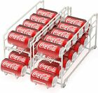 2 Pack - Simple Houseware Stackable Beverage Soda Can Dispenser Organizer Rack