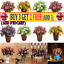 21HEADS ARTIFICIAL SILK FLOWERS ROSE BUNCH Wedding Party Home Outdoor Deco CW