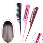 3-Row Teeth Teasing Comb Rat Tail Comb Hair Styling Hairdressing Comb Brush SU