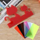 1Pc Color Acrylic Sheet Plate Plastic Panel 10x20WF