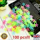 100pcs Wall Sticker Glow In The Dark Star Luminous Fluorescent Home Room Decor