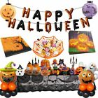 Happy Halloween Foil Balloons Party Ribbon Spider Pumpkin Scary Witch Ballons