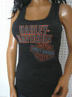 nwt Woman's HARLEY DAVIDSON *Stack* Semi Burnout Rib Tank Top Shirt USA! $36.99 USD on eBay