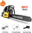 62cc Gas Powered Chainsaw 20 Inch 2 Stroke Handed Petrol Gasoline Chain Saw