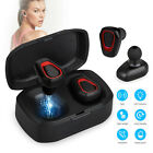 Wireless Earbuds BT V5.0 Headphones Sweatproof with Mic & Charging Box