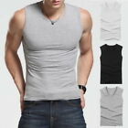Herren Compression Ärmellos Shirt Fitness Bodybuilding Weste Tank Top Sport P/D