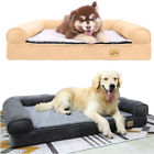 Large Plush Orthopedic L-Shaped Chaise Lounger & Traditional Sofa-Style Dog Bed