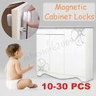 10-30 PCS Magnetic Cabinet Drawer Cupboard Locks Child Kids Proofing Baby