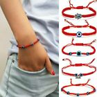 Adjustable Red String Evil Eyes Lucky Bracelet Handmade Braided Bangle Jewelry